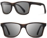 Shwood Men's 'Canby' 54Mm Polarized Wood Sunglasses - Distressed Dark Walnut/ Grey