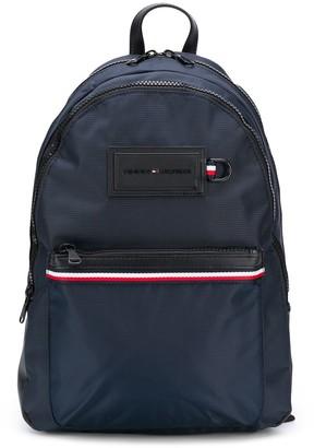 Tommy Hilfiger Logo Patch Stripe Detail Backpack