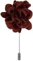Lanvin Burgundy Rose Tie Pin