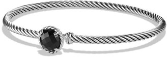 David Yurman Chatelaine Sterling Silver Faceted Dome Bracelet