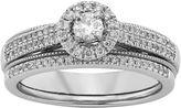 JCPenney MODERN BRIDE 1/2 CT. T.W. Diamond 10K White Gold Milgrain Bridal Ring Set
