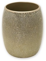 India Ink Huntington Resin and Cracked Glass Contemporary Waste Basket - Champagne