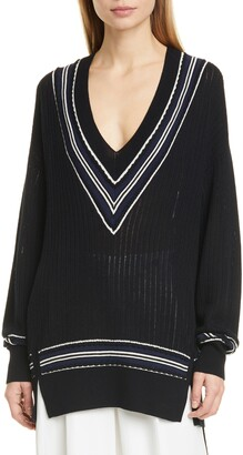 Rag & Bone Dianna Wool Blend V-Neck Sweater