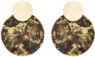 Design Studio Odell R2D2 Earrings - Black & Gold