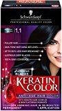 Schwarzkopf Keratin Hair Color, Midnight Black 1.1, 2.03 Ounce