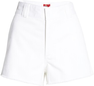Dickies Frayed Cotton Blend Worker Shorts