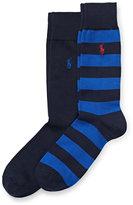 Ralph Lauren Rugby-stripe Sock 2-pack