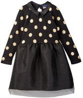 Andy & Evan Foil Dot Sweater Knit Dress (Toddler & Little Girls)