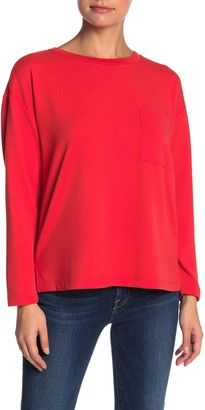 Sanctuary Lightweight Pocket Sweatshirt (Petite)