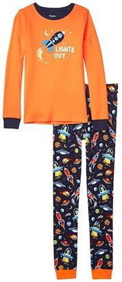 Hatley Retro Rockets Applique PJ Set (Toddler/Little Kids/Big Kids) (Blue) Boy's Pajama Sets