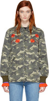 Opening Ceremony Green Camo Tigers Coach Jacket