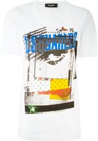 DSQUARED2 front print T-shirt