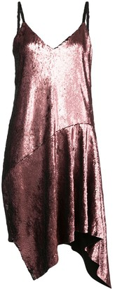 Marques Almeida Sequin-Embellished Draped Slip Dress