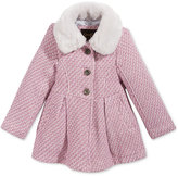 Jessica Simpson Lurex Tweed Coat with Faux-Fur Collar, Toddler Girls (2T-5T)