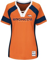 Majestic Women's Orange/Navy Denver Broncos Draft Me V-Neck T-Shirt