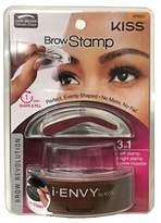 Kiss i-Envy by Brow Stamp for Perfect Eyebrow (KPBS01 - Dark Brown/Delicate Shape)