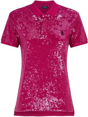 Polo Ralph Lauren Sequin-Embellished Polo Shirt