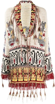 Etro Jacquard Knit Cardigan Coat