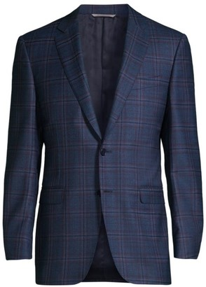 Canali Multi Plaid Wool Sportcoat