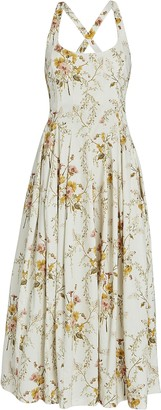 Brock Collection Floral Cotton Midi Dress