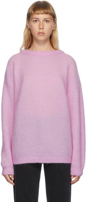 Acne Studios Pink Wool and Mohair Oversized Sweater