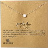 """Dogeared Pearls of Love"""" Sterling and Pearl Necklace, 18"""""""