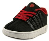 K-Swiss Classic Toddler Round Toe Leather Black Sneakers.