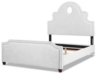 Red Barrel Studio Micheline Upholstered Platform Bed Color: Bright White, Size: Queen