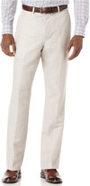 Perry Ellis Men's Big and Tall Linen Blend Herringbone Pants