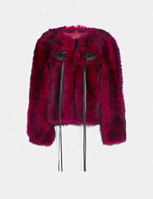 Coach Glam Punk Shearling Jacket