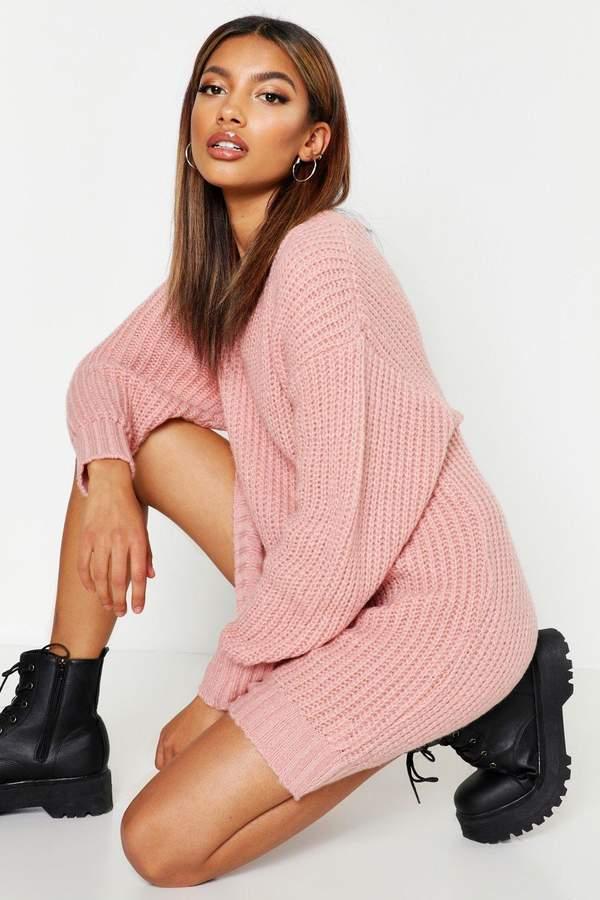 86e116d93db40 boohoo Pink Knit Dresses - ShopStyle