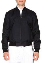 DSQUARED2 Wool/Silk Bomber Jacket, Black