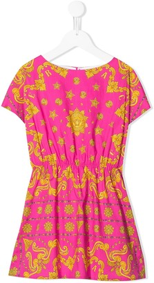 Versace Baroque Print Fitted Dress