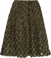 Simone Rocha Pleated cloqué midi skirt