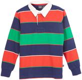 E-Land Kids Red & Green Stripe Polo - Toddler & Boys