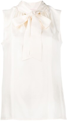 Tory Burch Silk Pussybow Blouse