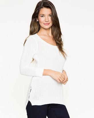 Le Château Cotton Blend & Lace Trim Sweater