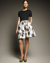 Jason Wu Printed Faille Full Skirt