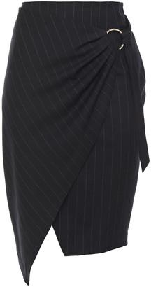 BA&SH Pinstriped Twill Wrap Skirt