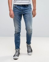 Selected Jeans Slim Fit in Mid Blue