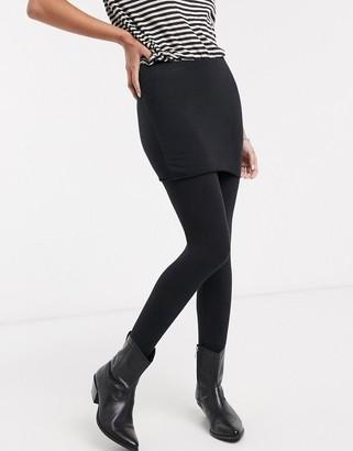 AllSaints raffi leggings with skirt in black
