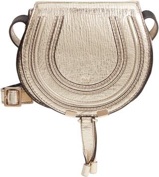 Chloé Mini Marcie Metallic Leather Crossbody Bag