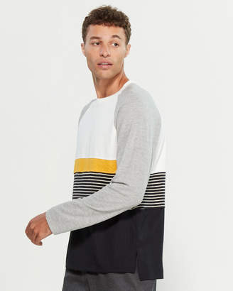 Barena Venezia Raglan Color Block Long Sleeve Sweater