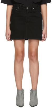 Balenciaga Black Denim High Waisted Miniskirt