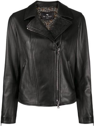 Etro Embossed Biker Jacket