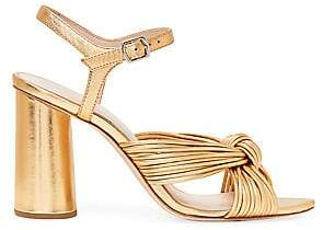 Loeffler Randall Women's Cece Metallic Leather Knotted Ankle-Strap Sandals