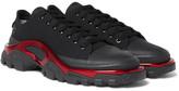 Raf Simons + Adidas New Runner Canvas Sneakers - Black