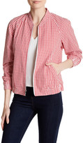 Anne Klein Gingham Zip Jacket