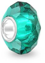 Bling Jewelry Teal Green Sterling Silver Faceted Glass Bead Pandora Compatible