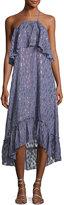 Ella Moss Stargazer Tiered Chiffon Maxi Dress, Blue